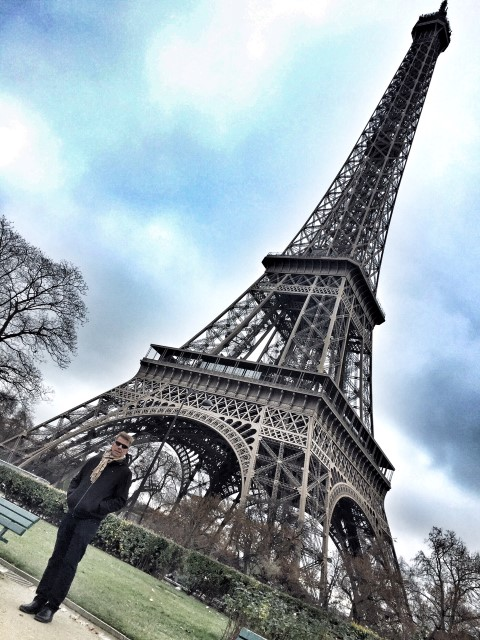 Markus Diersbock at Eiffel Tower, Paris