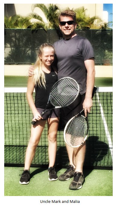 Markus Diersb�ck and Malia Luther Playing Tennis, Four Seasons Maui